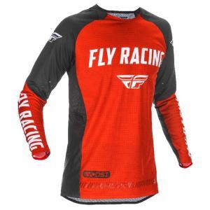 Motocrossowa koszulka FLY Racing Evolution 2021 czerwono-czarno-biała wyprzedaż