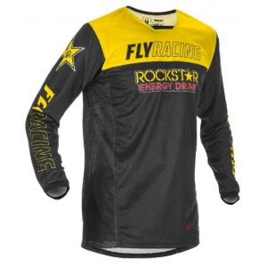 Motokrosový dres FLY Racing Kinetic Rockstar 2021 žluto-černý