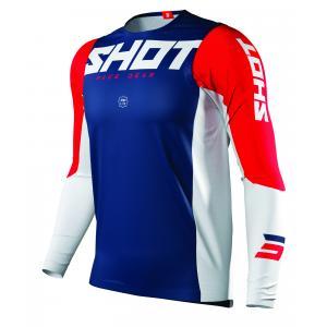 Motocrossowa koszulka Shot Aerolite Airflow niebiesko-biało-czerwona