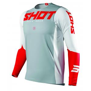 Motocrossowa koszulka Shot Aerolite Airflow szaro-biało-czerwona