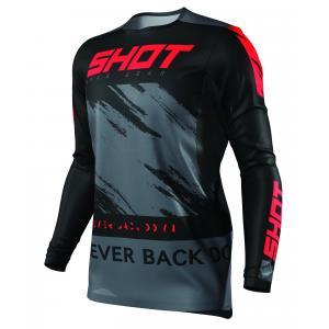 Motocrossowa koszulka Shot Contact Draw czarno-czerwona