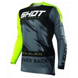 Motocrossowa koszulka Shot Contact Draw czarno-fluo żółta