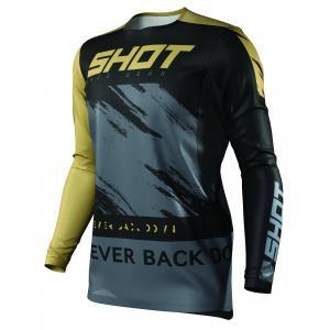 Motocrossowa koszulka Shot Contact Draw czarno-złota