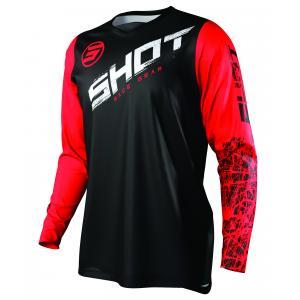 Motocrossowa koszulka Shot Devo Slam czarno-biało-czerwona