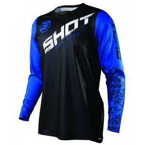 Motocrossowa koszulka Shot Devo Slam czarno-biało-niebieska