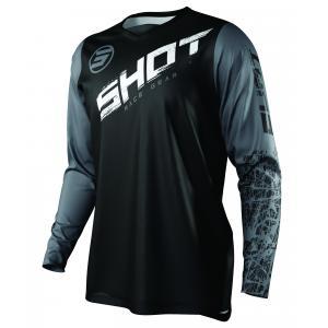 Motocrossowa koszulka Shot Devo Slam czarno-biało-szara