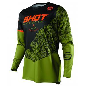 Motocrossowa koszulka Shot Devo Storm czarno-khaki zielona