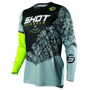 Motocrossowa koszulka Shot Devo Storm czarno-szaro-fluo żółta