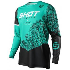 Motocrossowa koszulka Shot Devo Storm czarno-tyrkusowa