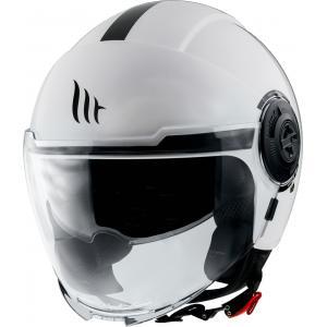 Otwarty kask motocyklowy MT Viale biały