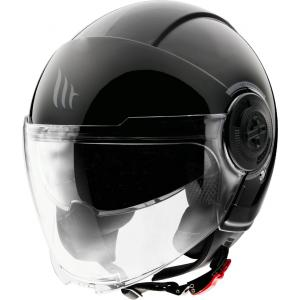 Otwarty kask motocyklowy MT Viale czarny