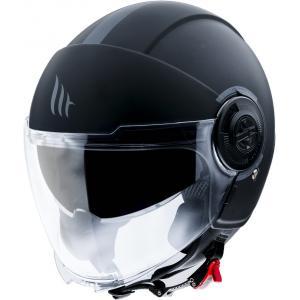 Otwarty kask motocyklowy MT Viale czarny matowy