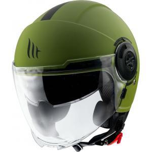 Otwarty kask motocyklowy MT Viale zielony matowy