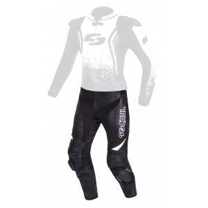Skórzane spodnie motocyklowe Tschul 585 czarno-białe