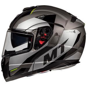 Szczękowy kask motocyklowy MT Atom SV TRANSCEND E2 szary
