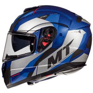 Szczękowy kask motocyklowy MT Atom SV TRANSCEND E7 niebieski