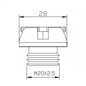 Plug oil cap PUIG 6156P silver M19x2,5