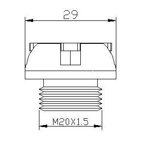 Plug oil cap PUIG 6155P silver M20x1,5