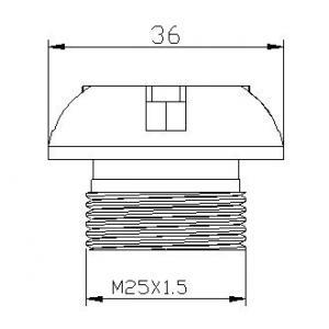 Plug oil cap PUIG 6777P silver M25x1,5