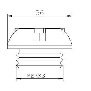 Plug oil cap PUIG 6157P silver M27x3