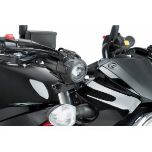 Adapters for auxiliary lights PUIG 3485N black set