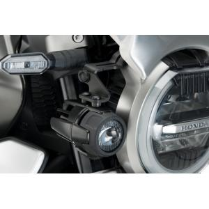 Adapters for auxiliary lights PUIG 1943N black set