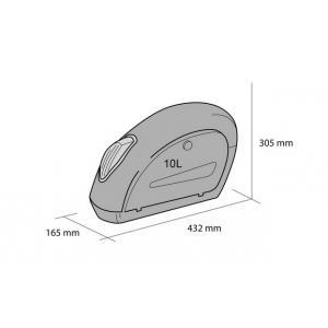 Rigid saddlebag CUSTOMACCES SMALL ARS004N black pair