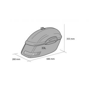 Rigid saddlebag CUSTOMACCES TOURING AMZ002N black pair, with KF universal support