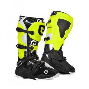 Boty na motorku Eleveit X-Legend černo-fluo žluto-bílé