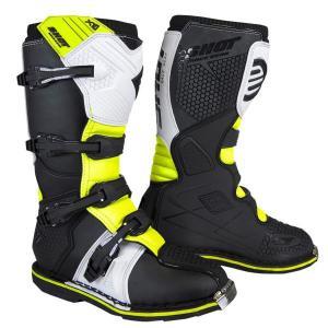 Buty motocykloweShot X10 2.0 biało-fluo-żółte