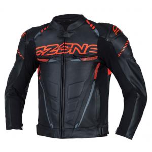 Skórzana kurtka motocyklowa Ozone RS600 czarno-pomarańczowa