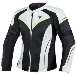 Dámská bunda na motorku Rebelhorn Flux černo-bílá