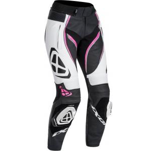 Dámské kalhoty na motorku IXON Vortex Lady černo-bílo-růžové