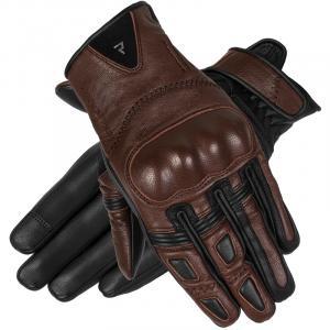 Damskie rękawice motocyklowe Rebelhorn Thug II ciemno brązowe