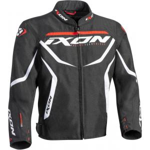 Dětská bunda na motorku IXON Sprinter černo-bílo-červená