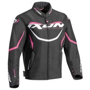 Dětská bunda na motorku IXON Sprinter černo-bílo-růžová