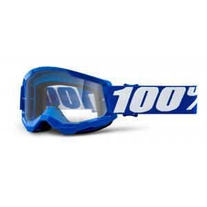 Dětské motokrosové brýle 100% STRATA 2 modré (čiré plexi)