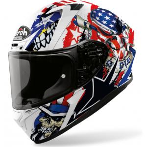 Integralny kask motocyklowy Airoh Valor Uncle Sam biało-niebiesko-czerwony