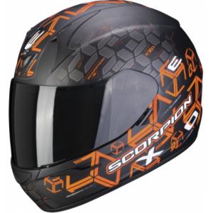 Integralny kask motocyklowy Scorpion EXO-390 Cube czarno-pomarańczowy wyprzedaż