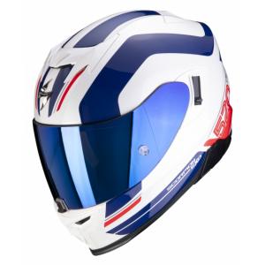 Integrální přilba Scorpion EXO-520 AIR Lemans bílo-modro-červená wyprzedaż