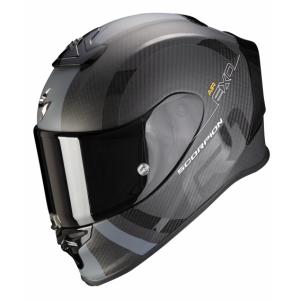 Integrální přilba Scorpion EXO-R1 Carbon Air MG černo-stříbrná