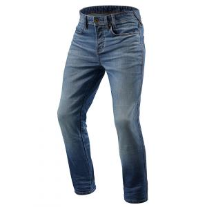 Jeansy motocyklowe Revit Piston niebieskie skrócone wyprzedaż