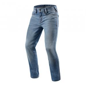 Jeansy motocyklowe Revit Piston jasno niebieskie skrócone wyprzedaż