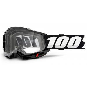 Motokrosové brýle 100% ACCURI 2 OTG černé (čiré plexi)
