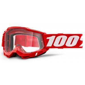 Motokrosové brýle 100% ACCURI 2 OTG červené (čiré plexi)