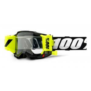 Motokrosové brýle 100% ACCURI 2 Roll-Off černé (čiré plexi)