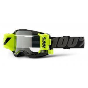 Motokrosové brýle 100% ACCURI 2 Roll-Off černo-šedé (čiré plexi) wyprzedaż