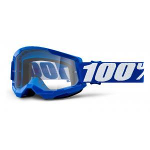 Motokrosové brýle 100% STRATA 2 modré (čiré plexi)