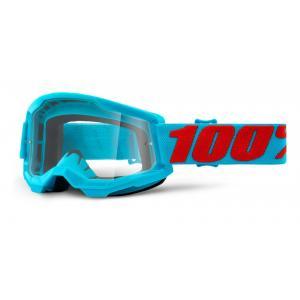 Motokrosové brýle 100% STRATA 2 tyrkysové (čiré plexi)