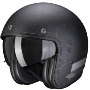 Otwarty kask motocyklowy Scorpion Belfast Shift czarny matowy